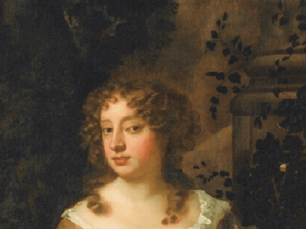 Illustration: a close-up of the head of Nell Gwyn, by Sir Peter Lely. Credit: Wikimedia Commons.