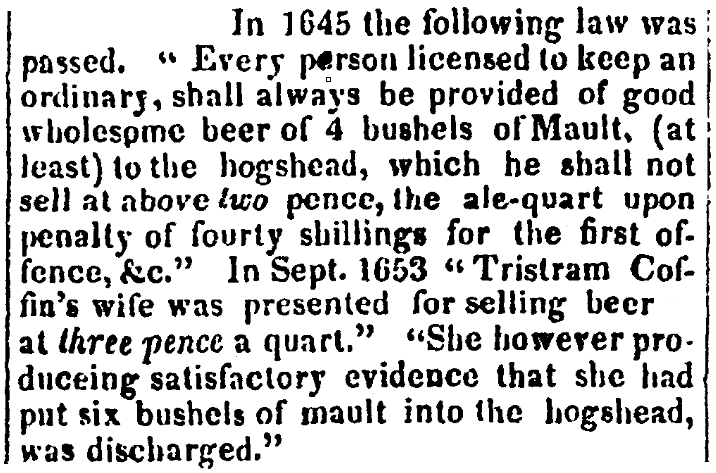 An article about Dionis Coffin, New-Hampshire Statesman newspaper article 22 July 1826