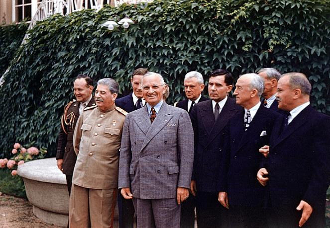 Photo: Harry S. Truman and Joseph Stalin meeting at Potsdam