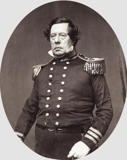 Photo: Commodore Matthew Calbraith Perry, USN, by Mathew Brady, c. 1857