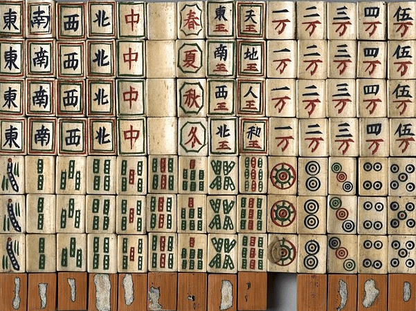 Photo: Mah Jong tiles of late 19th century. Credit: Brooklyn Museum; Wikimedia Commons.