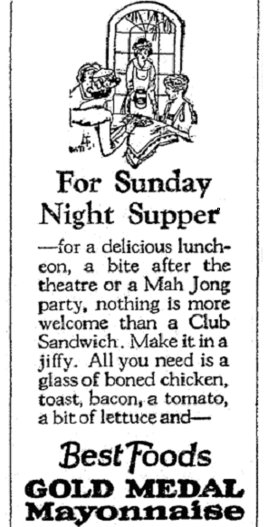 An ad that mentions Mah Jong, Seattle Daily Times newspaper advertisement 24 April 1924