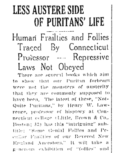 An article about fashion laws, Springfield Republican newspaper article 14 October 1928