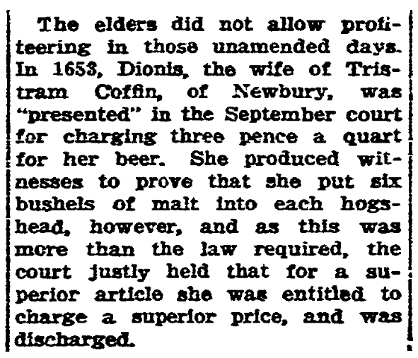 An article about Dionis Coffin, State Times Advocate newspaper article 12 September 1924