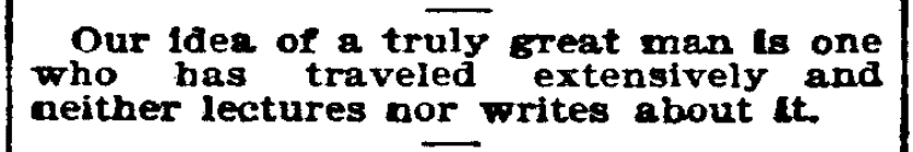 An article about traveling, Topeka State Journal newspaper article 19 May 1899