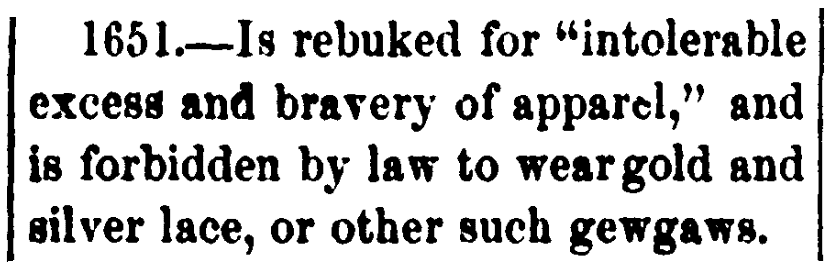 An article about fashion laws, Vineland Advertiser newspaper article 24 April 1875