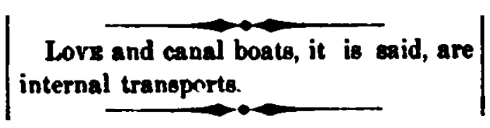 An article about canal boats, Wheeling Daily Register newspaper article 16 March 1871