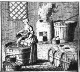 Illustration: woman brewing beer