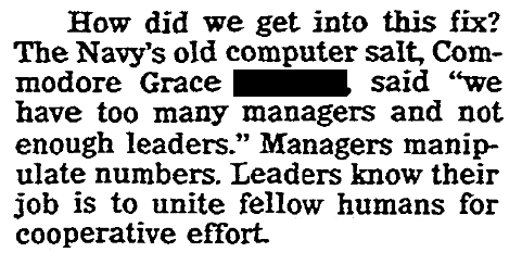 An article about Grace Hopper, Jersey Journal newspaper article 19 February 1990