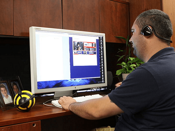 Photo: the United States Marine Corps began allowing some civilian employees to telework from home in 2010. Credit: United States Marine Corps.; Wikimedia Commons.