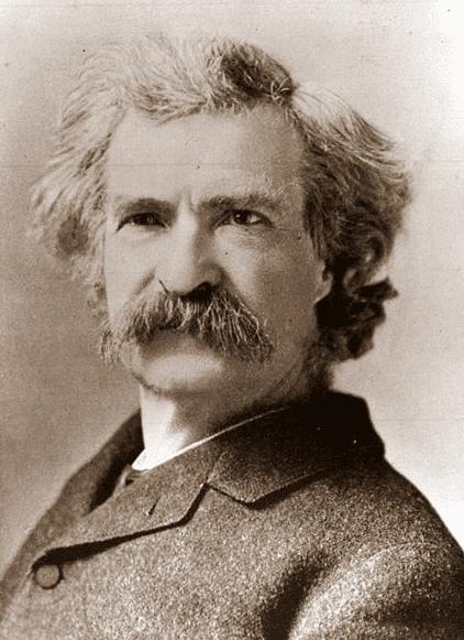 Photo: Mark Twain (Samuel Clemens), 1884