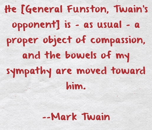 A saying by Mark Twain about General Funston