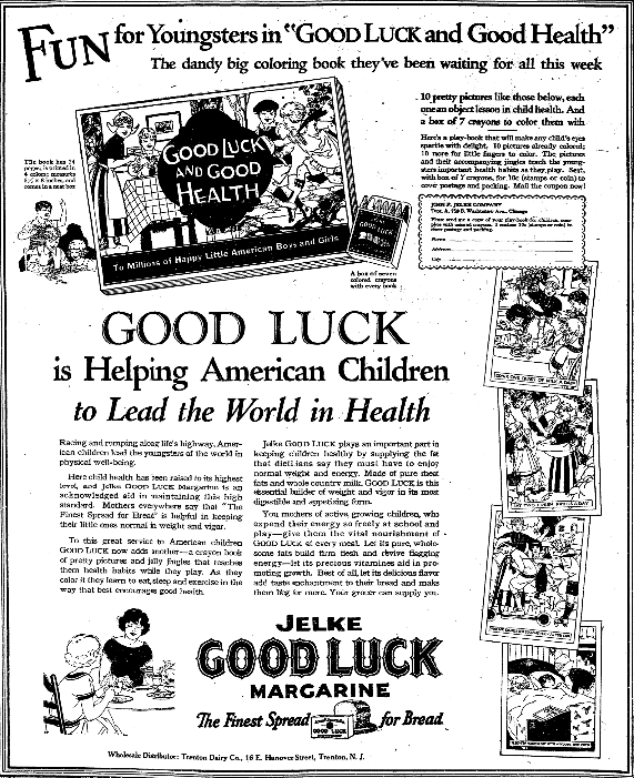 An ad for a coloring book, Trenton Evening Times newspaper advertisement 26 September 1926