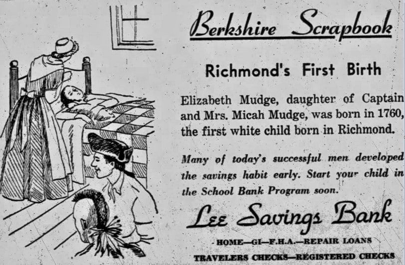 An article about the Mudge family, Berkshire Eagle newspaper article 10 February 1954