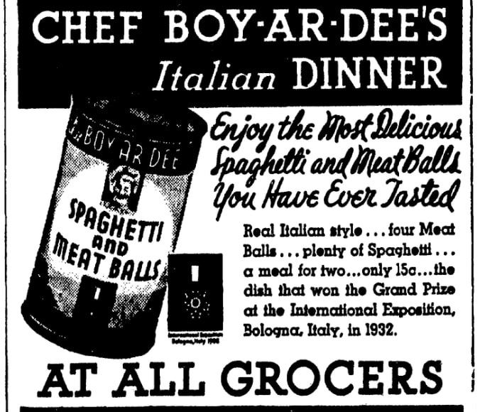 An article about Chef Boyardee, Evening Star newspaper article 8 May 1934