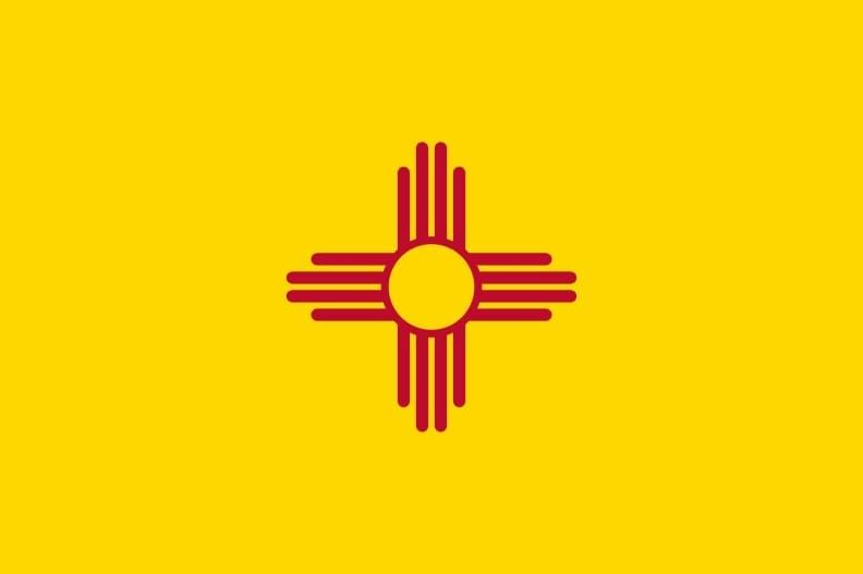 Illustration: New Mexico state flag