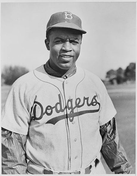 Photo: Jackie Robinson in his Brooklyn Dodgers Uniform, 1950