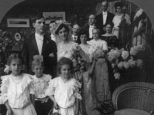 """Photo: """"The Wedding March,"""" c. 1906. Credit: Library of Congress, Prints and Photographs Division."""