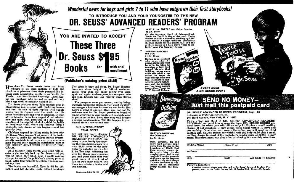 An article about Dr. Seuss, Plain Dealer newspaper article 24 September 1965