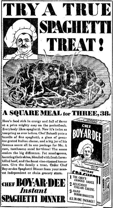 An article about Chef Boyardee,