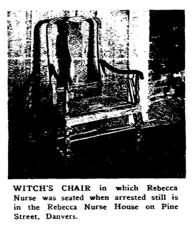 An article about the 1692 Salem Witch Trials, Boston Herald newspaper article 19 June 1955