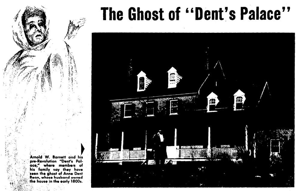"An article about the ghosts of ""Dent's Palace,"" Evening Star newspaper article 21 February 1960"