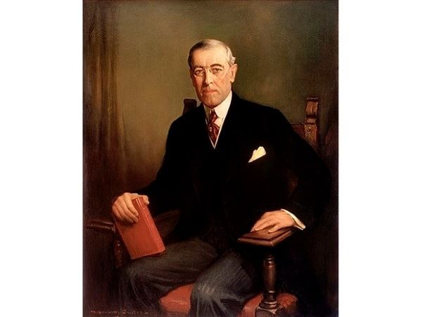 Illustration: official presidential portrait of Woodrow Wilson, by Frank Graham Cootes, 1913. Credit: Wikimedia Commons.