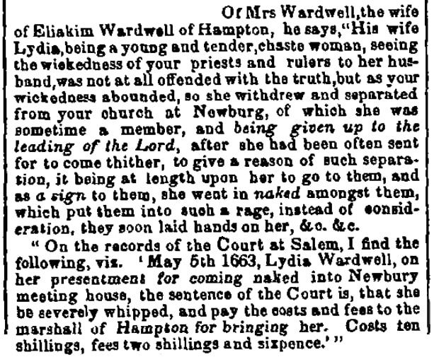 An article about Lydia Wardwell, New York Journal of Commerce newspaper article 7 February 1848