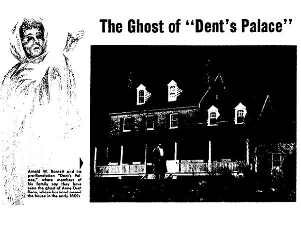 A photo of Dent's Palace in Maryland, supposedly haunted