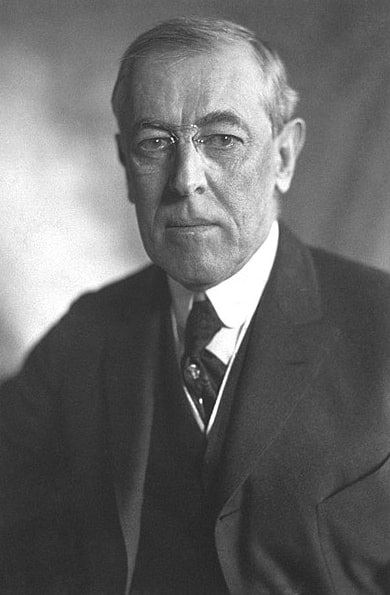 Photo: Woodrow Wilson, President of the United States of America, 1919