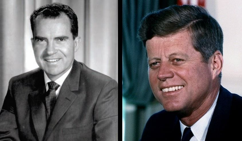 Photo: Richard Nixon (left) and John Kennedy (right)