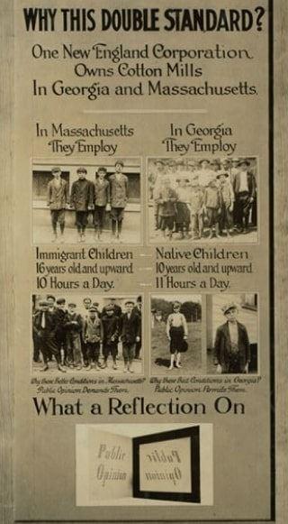 Photo: child labor poster, c. 1913