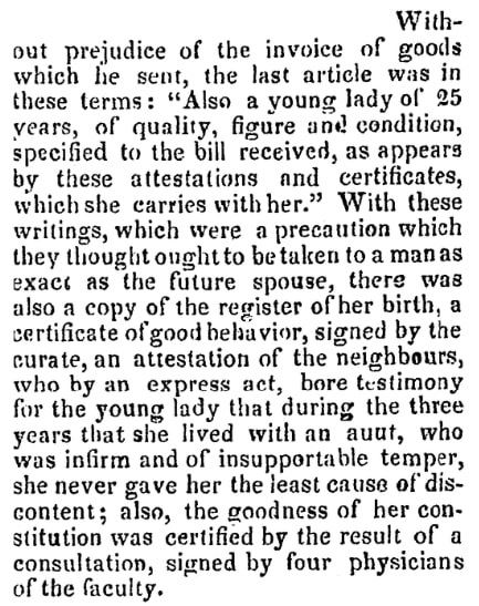 An article about birth certificates, Saratoga Sentinel newspaper article 17 May 1836