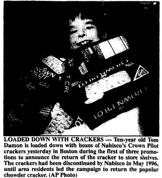 Photo from an article about Nabisco, Brunswick News newspaper article 5 February 1997