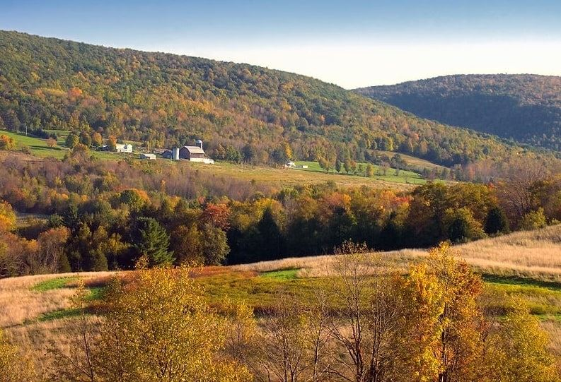 Photo: autumn in North Branch Township, Wyoming County, Pennsylvania