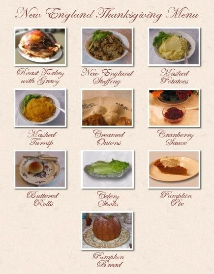 Photo: a New England Thanksgiving dinner, featuring popular side dishes