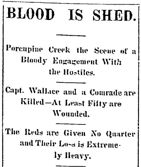 An article about the Wounded Knee Massacre, Aberdeen Daily News newspaper article 30 December 1890