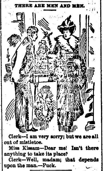 Christmas humor, Goodland Republic newspaper article 16 December 1892