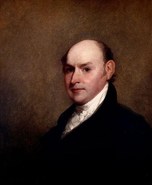 Illustration: John Quincy Adams, by Gilbert Stuart, 1818