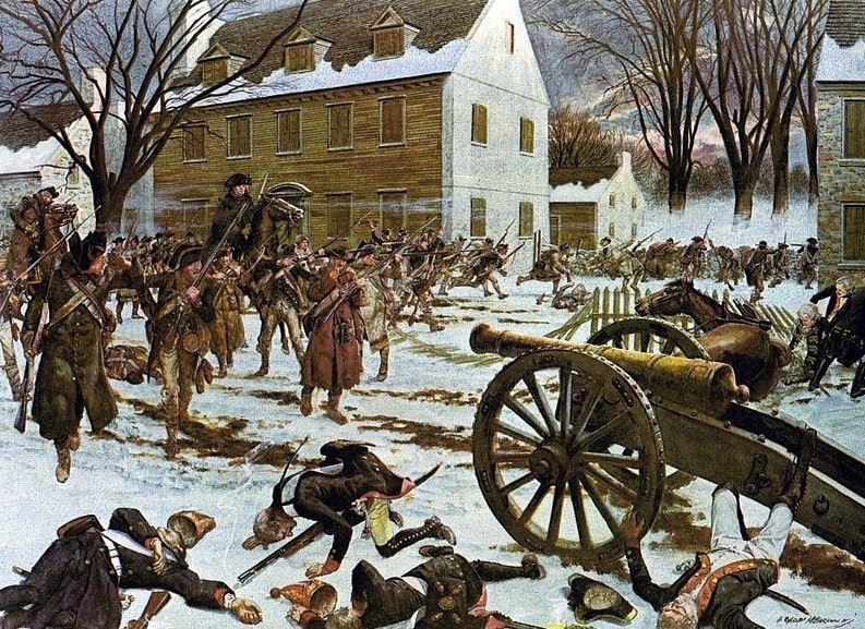 "Illustration: ""Battle of Trenton"" by Hugh Charles McBarron Jr."