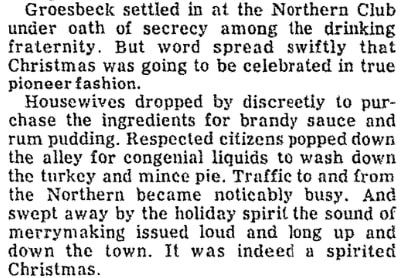 An article about a bootlegger in Las Vegas during Prohibition, Las Vegas Review-Journal newspaper article 21 December 1975