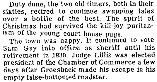 An article about Judge Lillis and Sheriff Gay, Las Vegas Review-Journal newspaper article 21 December 1975