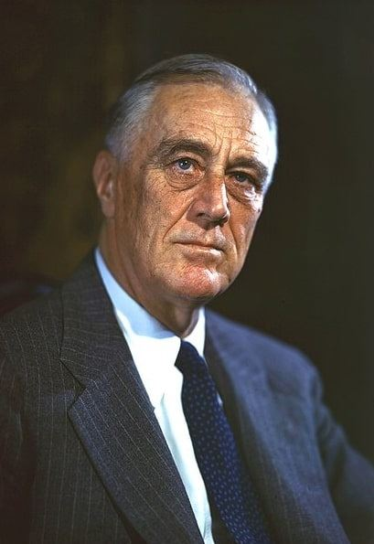 Photo: President Franklin Delano Roosevelt, by Leon A. Perskie, Hyde Park, New York, 21 August 1944