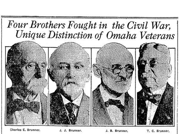 The Bruner brothers, from a 1918 Omaha World-Herald newspaper article