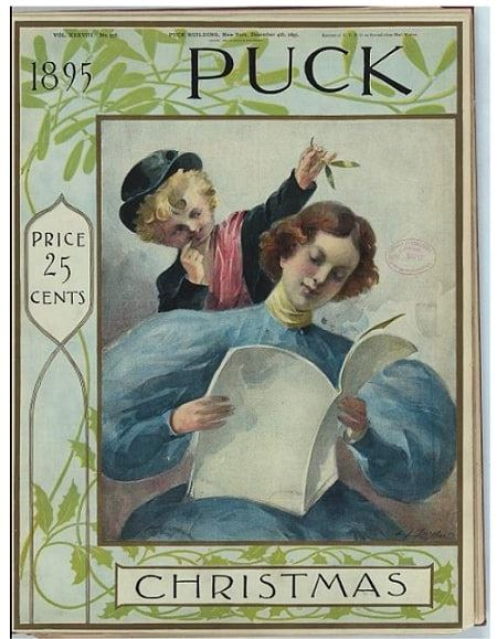 Photo: 1895 Puck Christmas issue