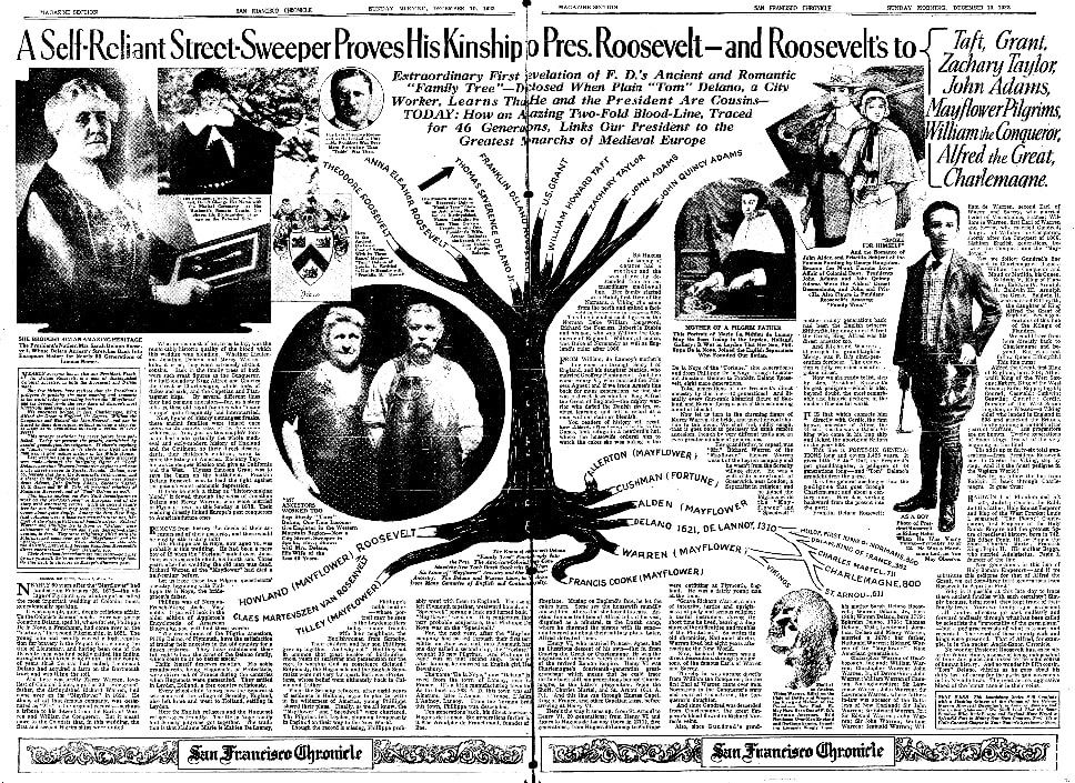 An article about Thomas Delano, San Francisco Chronicle newspaper article 10 December 1933