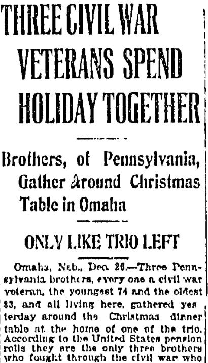 An article about the Bruner brothers, Wilkes-Barre Times-Leader newspaper article 26 December 1919