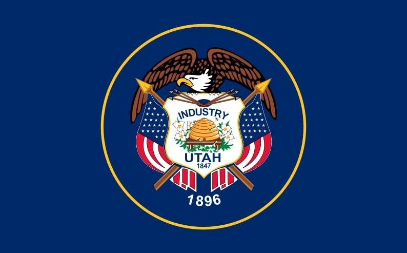 Illustration: Utah state flag