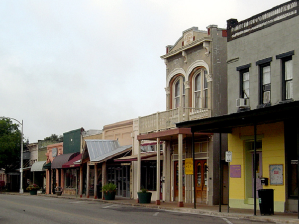 Photo: Main Street, Bastrop, Texas. Credit: Larry D. Moore CC BY-SA 3.0; Wikimedia Commons.