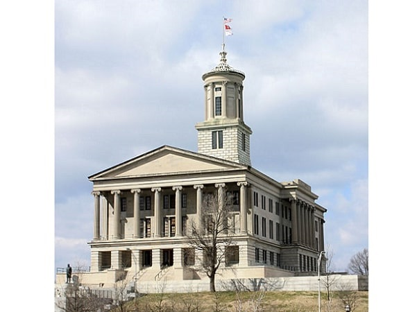 Photo: Tennessee State Capitol in Nashville, Tennessee. Credit: Kaldari; Wikimedia Commons.